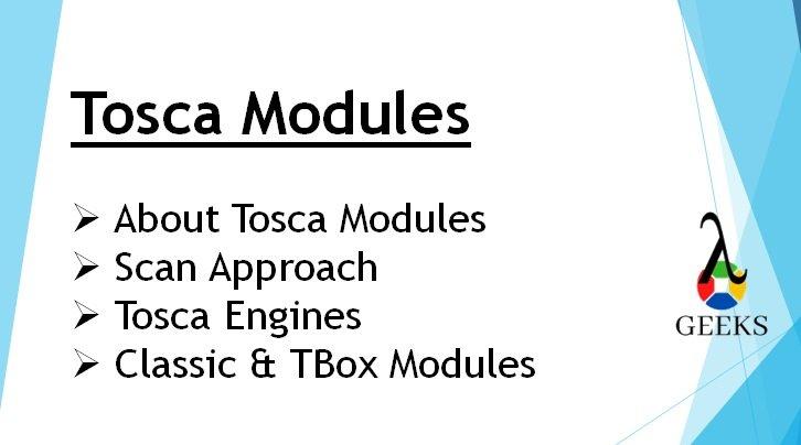 modules tosca - image caractéristique