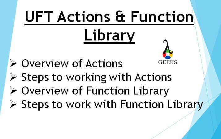UFT Actions - Feature Images