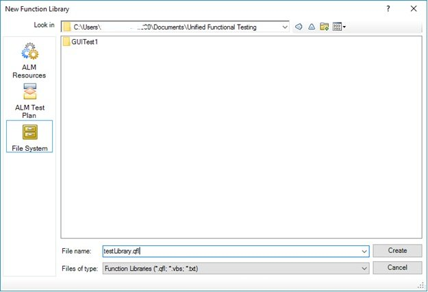 UFT Function Library Creation Step2