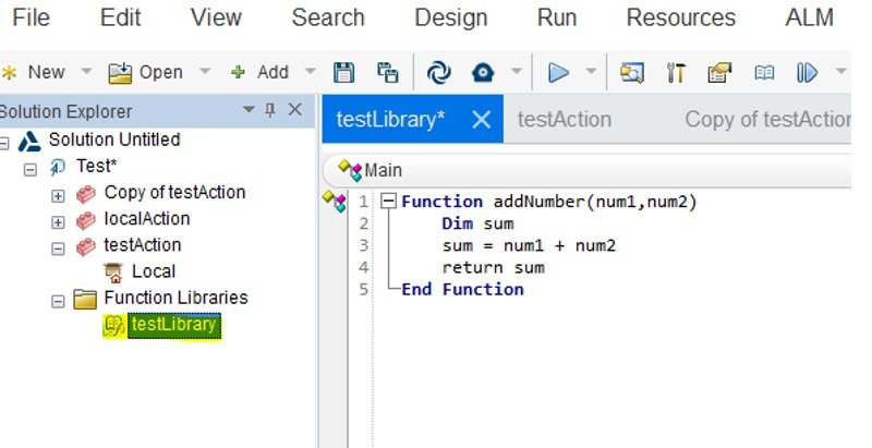 UFT Function Library Creation Step4