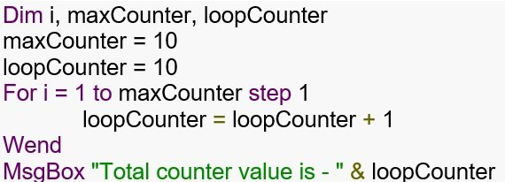 VB Scripting in UFT - Looping Statements in UFT (For-Next)
